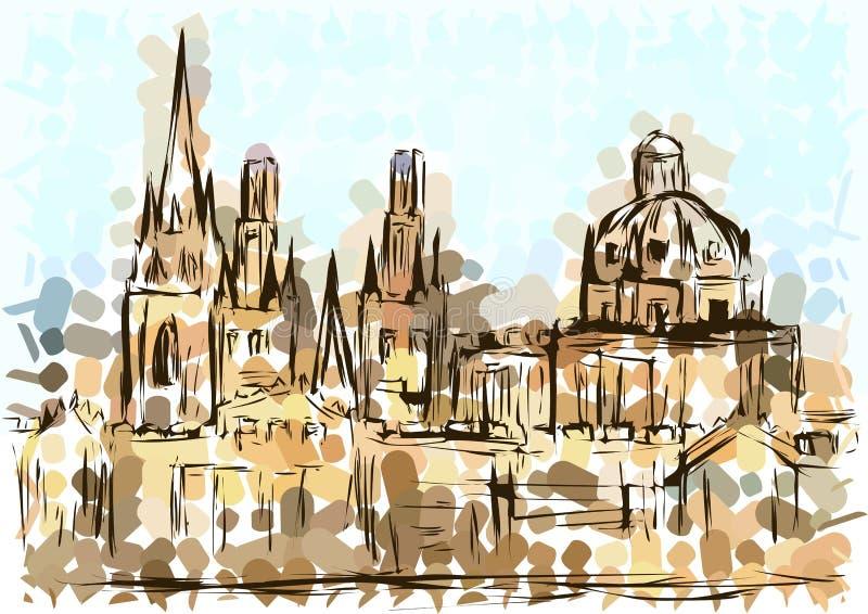 uniwersytet w oksfordzie ilustracja wektor