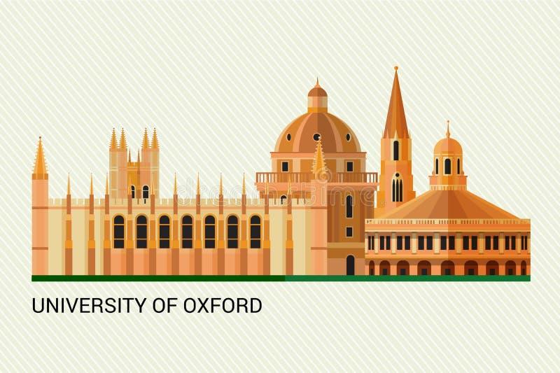 uniwersytet w oksfordzie również zwrócić corel ilustracji wektora ilustracja wektor