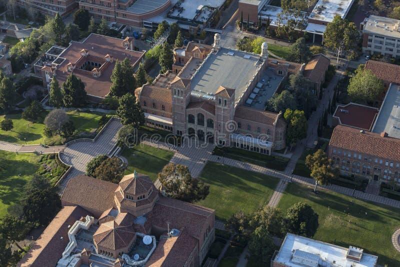 Uniwersyteta Kalifornijskiego Los Angeles kampusu antena fotografia royalty free