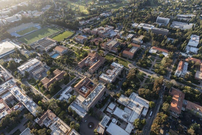 Uniwersyteta Kalifornijskiego Los Angeles kampusu anteny przegląd obrazy royalty free