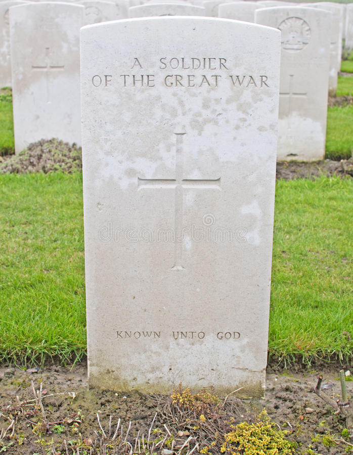 Download An Unknown Allied Soldier stock photo. Image of grave - 23790954
