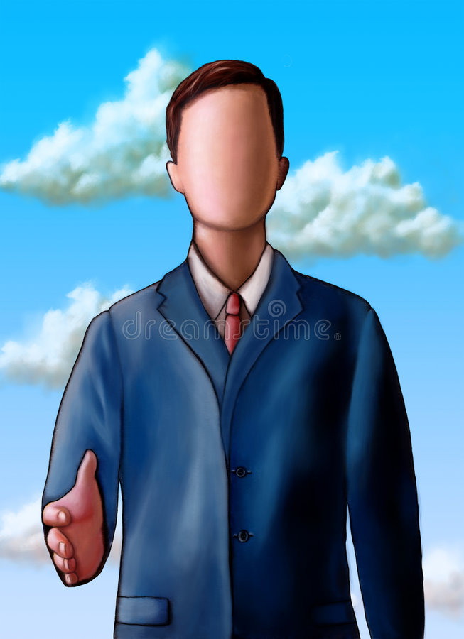 Download Unknown business stock illustration. Image of face, hand - 5845746