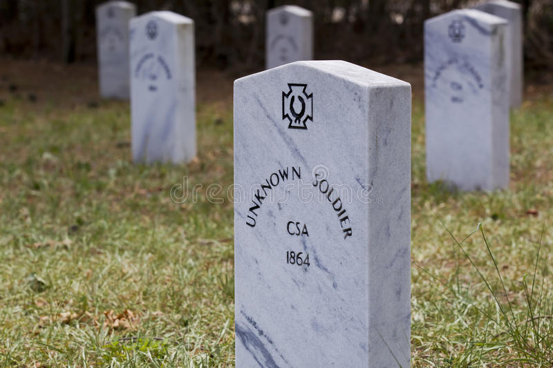 Unknown Confederate Soldiers stock photo
