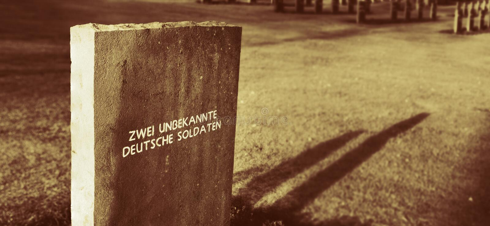 Download Unknown German Soldiers Grave Stock Photo - Image: 3982146