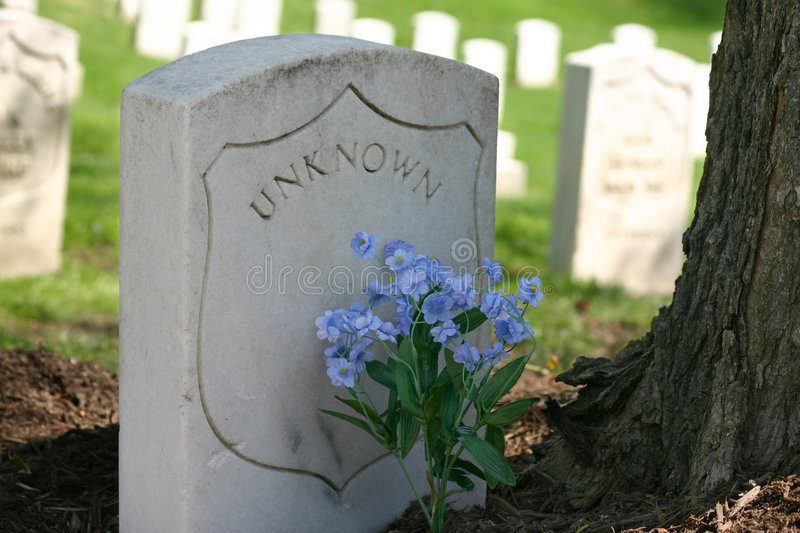 Unknown - grave. Grave of an unknown soldier. Cave Hill Cemetary, Louisville, Ky royalty free stock photos