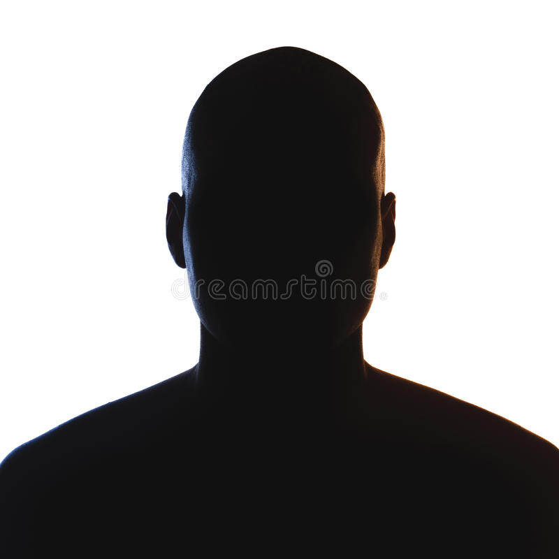 Unknown male person silhouette royalty free stock photos