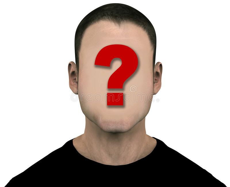 Unknown Man Blank Empty Anonymous Face stock illustration