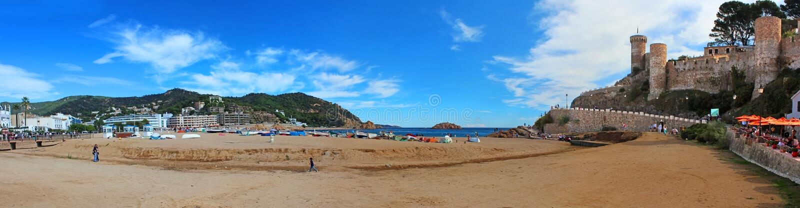 Unknown people are in Tossa de Mar royalty free stock photo