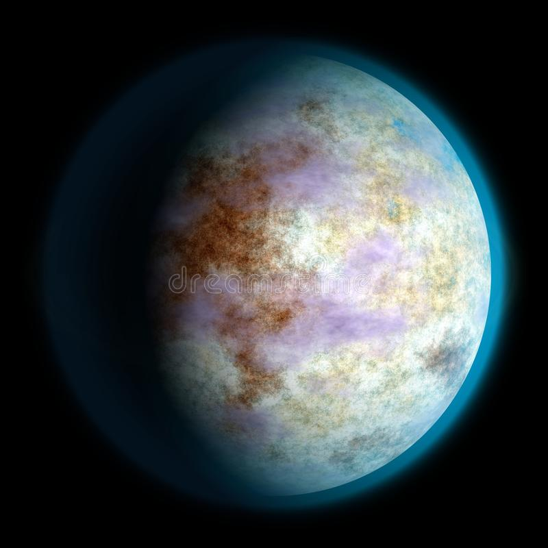 Unknown planet texture, Earth-like. 3d 11 stock illustration