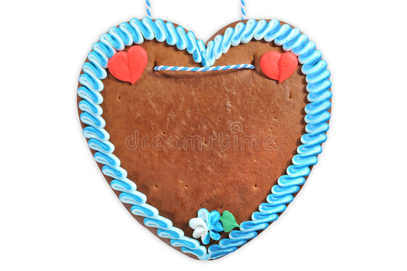 Unlabeled βαυαρική καρδιά μελοψωμάτων στοκ εικόνα