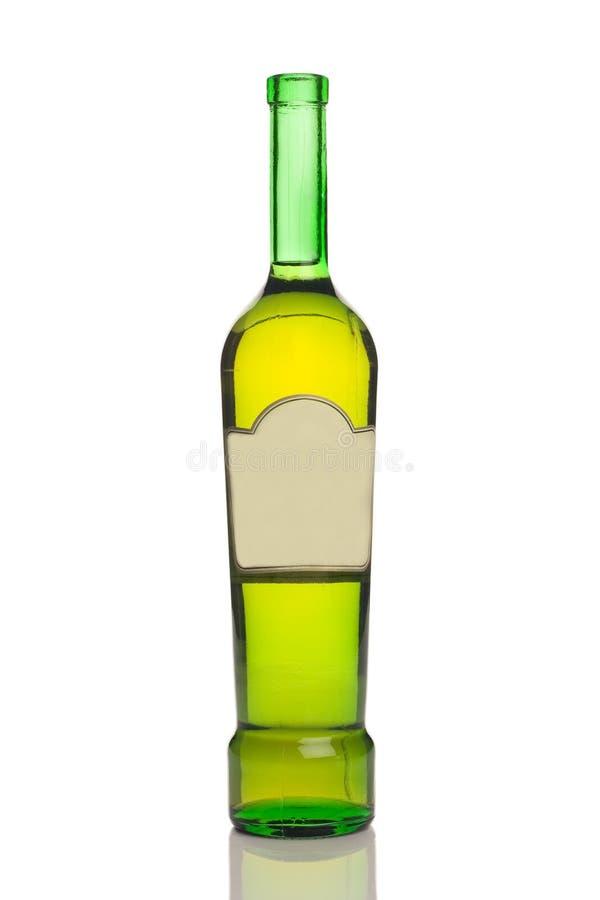 Unlabeled wine bottle royalty free stock photo