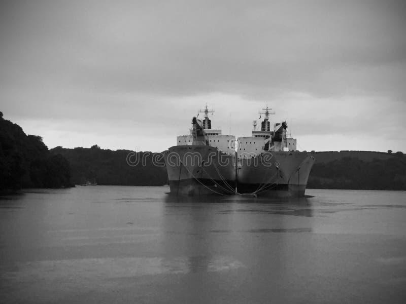 Unladen tankers royalty free stock photos