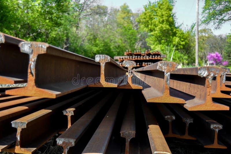 Unlaid järnväg arkivbilder