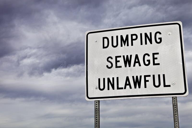 Download Unlawful Sewage Dumping Sign Stock Photo - Image: 18157608
