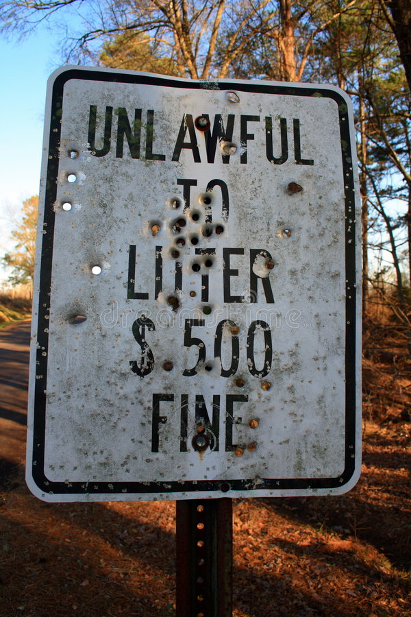 Download Unlawful To Litter - Ok To Shoot? Stock Photo - Image: 2016636