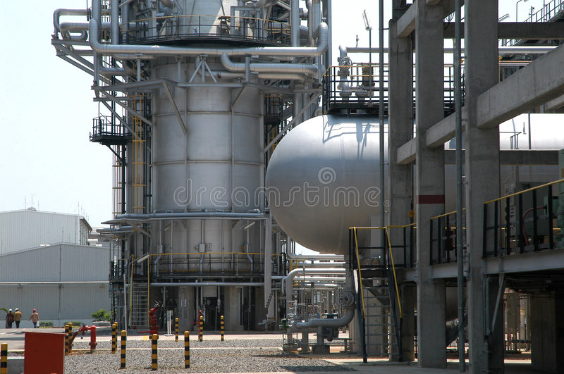 Unleaded Oil Refinenery stock photography