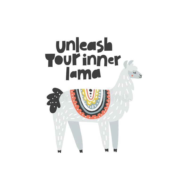 Unleash Your Inner Lama royalty free illustration