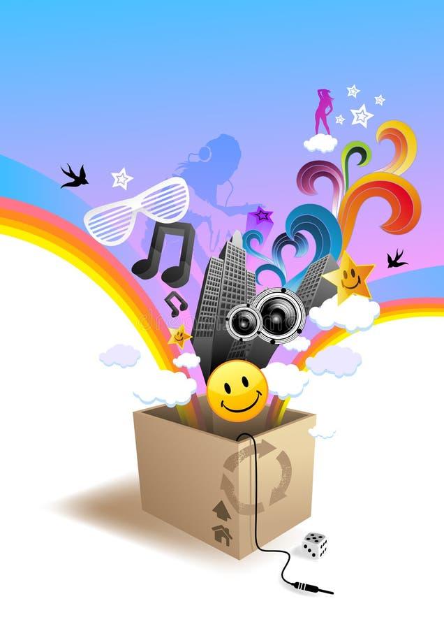 Unleashed Beats! stock illustration