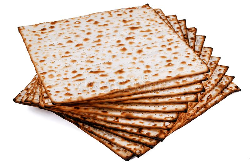 Unleavened bread stacked on white royalty free stock photo