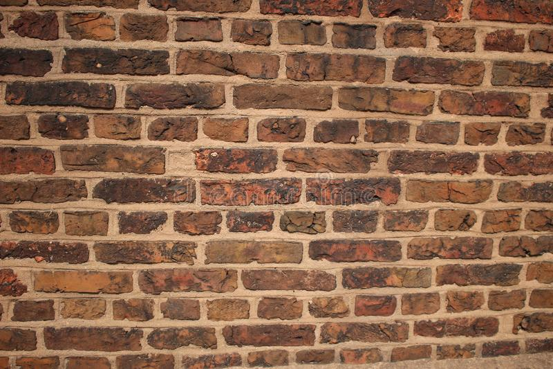 Tudor 16th Century Brickwork. Unlike the brickwork that is used today the Tudor brick was generally smaller, the Victorians would use Lime mortar to bind the stock photography