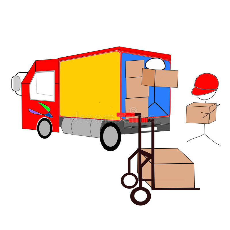 Download Unloading stock illustration. Illustration of carry, moving - 29016678