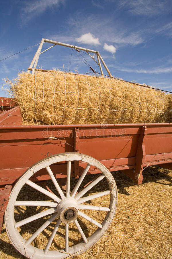 Download Unloading The Wagon Of Wheat. Stock Image - Image of wooden, wheels: 16069683
