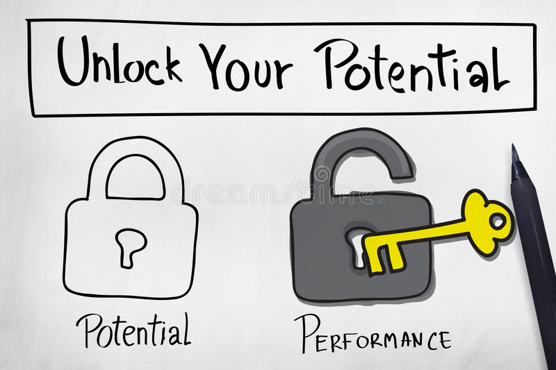 Unlock Your Potential Improve Skill Concept royalty free illustration