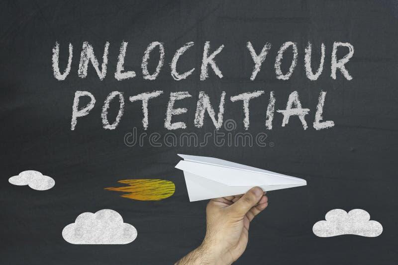 Unlock your potential. Open your mind design. Potential concept business concept. stock photos