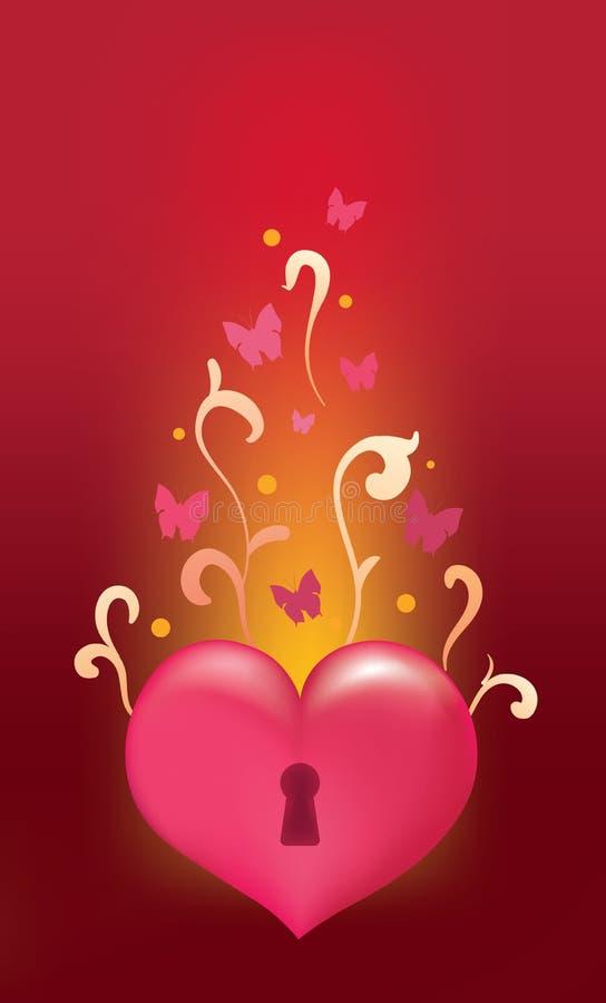 Unlocked heart royalty free stock image