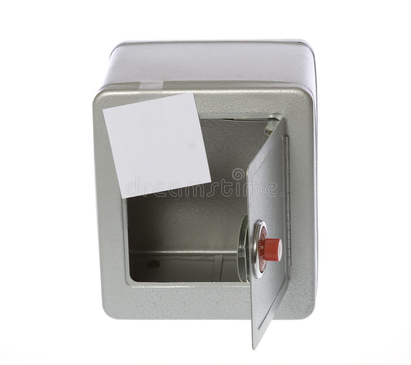 Download Unlocked, Open, Empty Safe With A Blank Note Stock Image - Image: 13333793