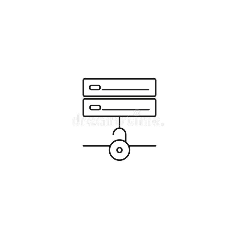 unlocked server icon royalty free illustration