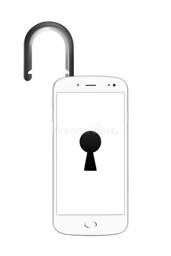 Unlocked smartphone royalty free stock photo