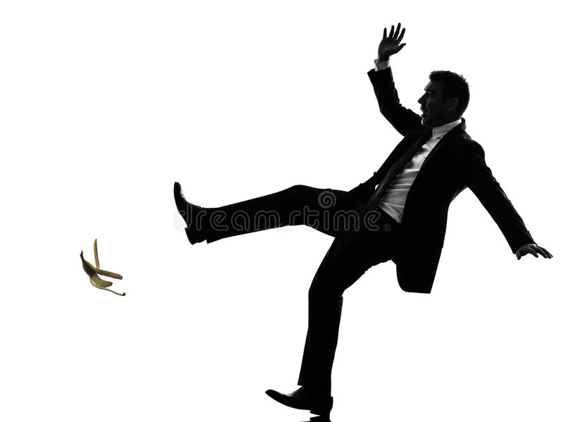 Download Unlucky Carefree Business Man Silhouette Stock Image - Image: 36687057