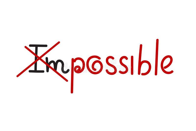 Unmöglich und möglich stock abbildung