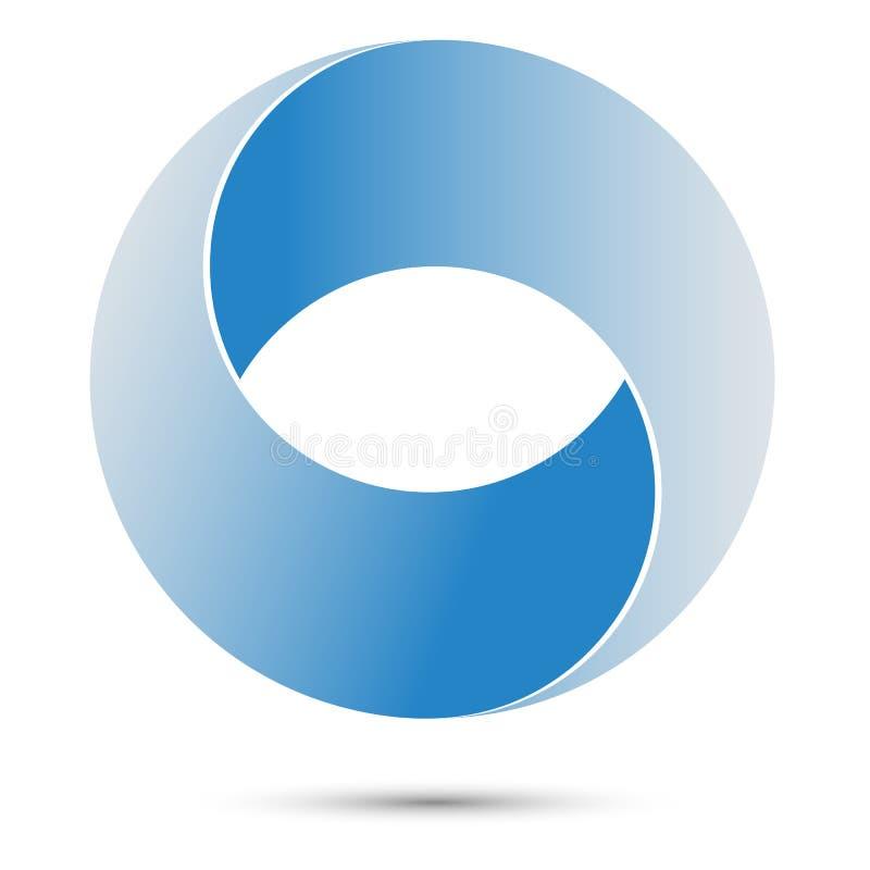 Unmögliches Kreis-Zeichen Abstrakter Entwurf Logoschablone stockbild