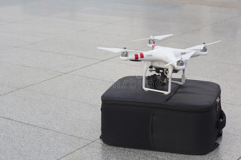 A unmanned aerial vehicle or drone stock photo