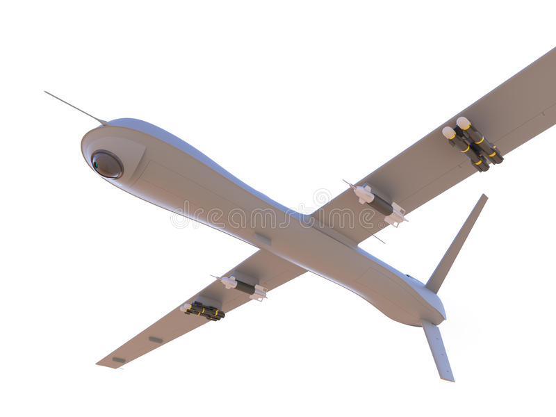 Unmanned aerial vehicle isolated on white stock photography
