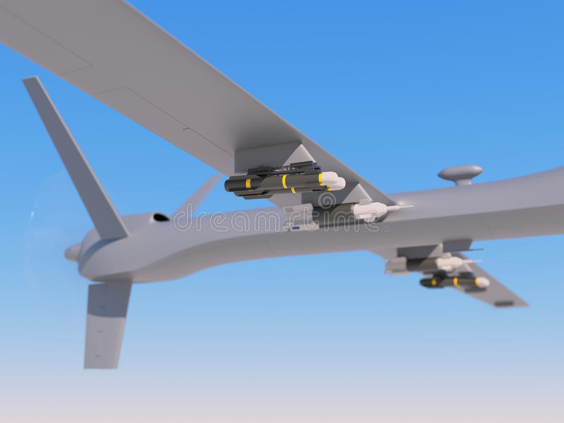 Unmanned aerial vehicle in the sky royalty free stock images