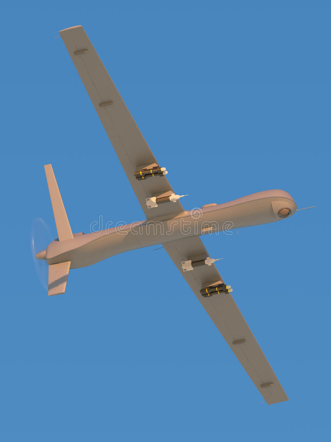 Unmanned aerial vehicle in the sky stock photo