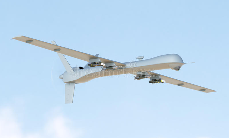 Unmanned aerial vehicle in the sky royalty free stock image
