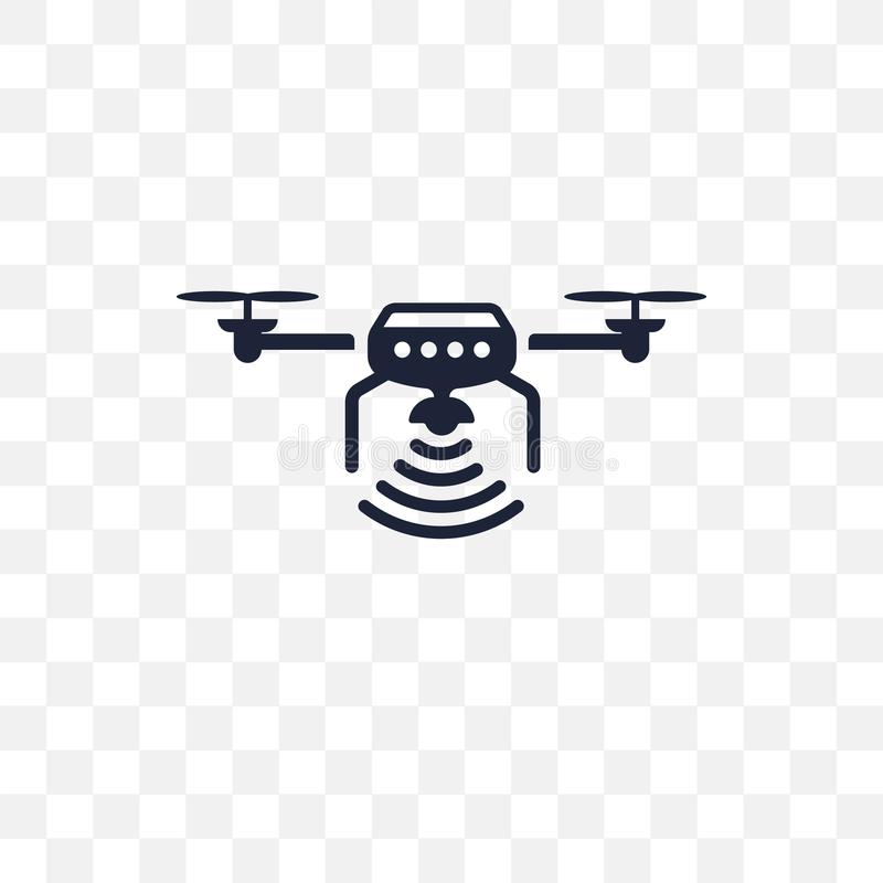 Unmanned aerial vehicle transparent icon. Unmanned aerial vehicle symbol design from Future technology collection. Simple element stock illustration