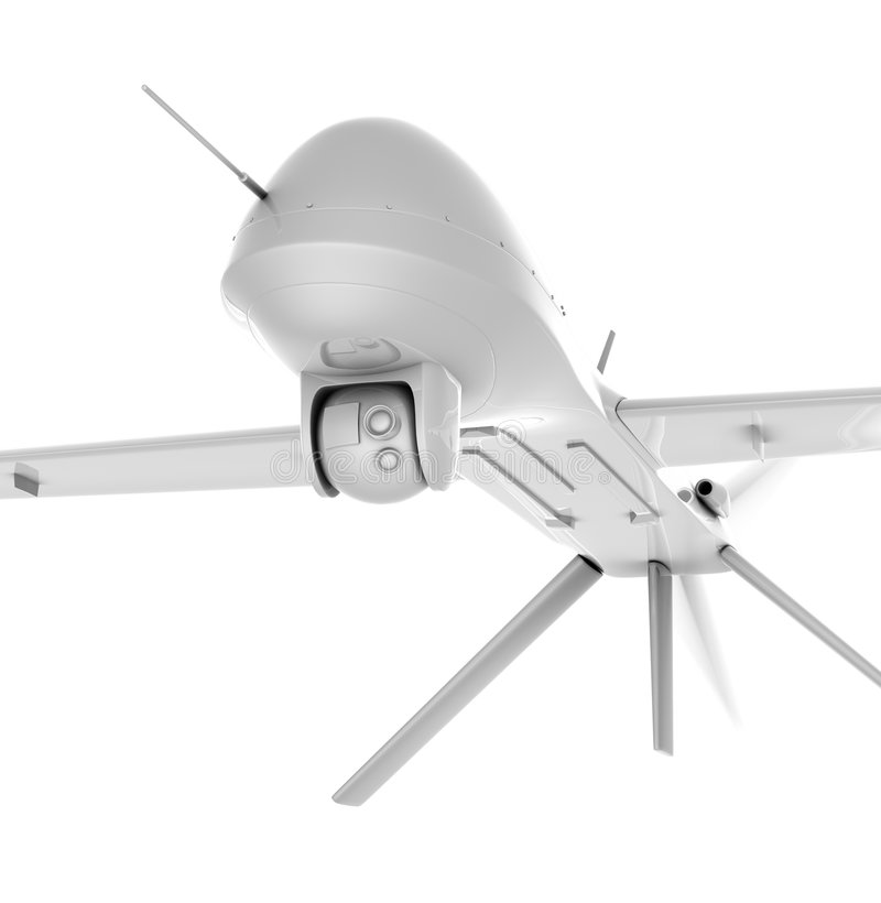 Unmanned air vehicle closeup royalty free stock photography