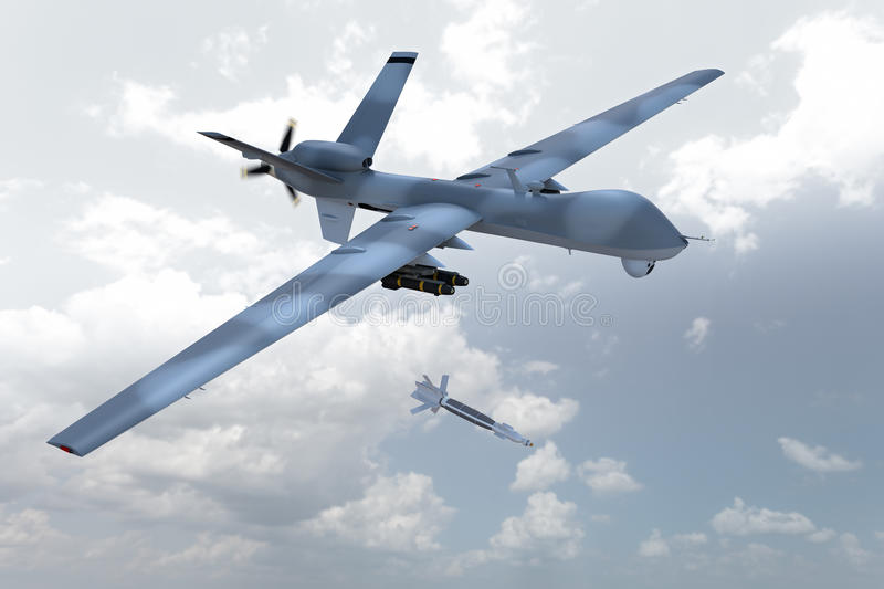 Unmanned Drone stock image