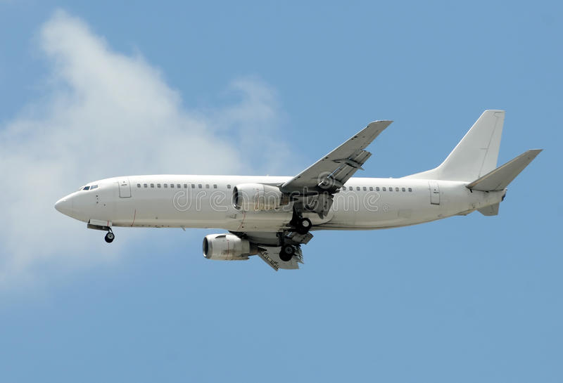 Unmarked passenger airplane royalty free stock photography