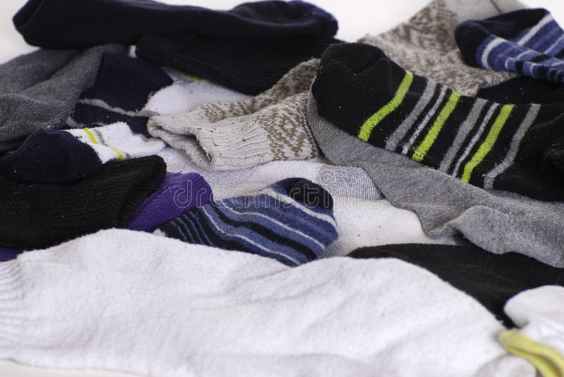 Download Unmatched Socks stock photo. Image of clothes, isolated - 13132776