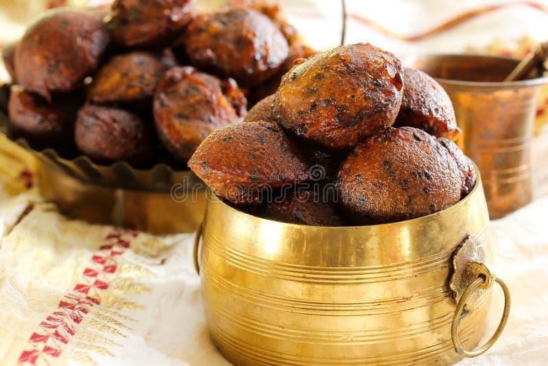 Unniyappam smażył ryżowe piłki dla vishu festiwalu na Kerala obraz stock