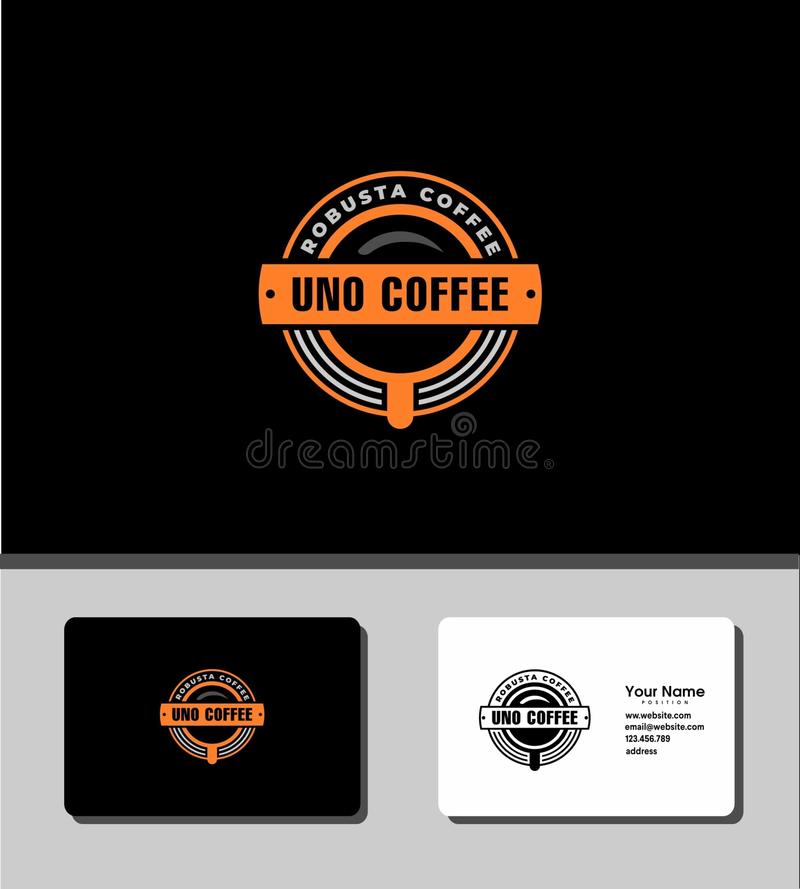 Uno coffee logo royalty free stock photos