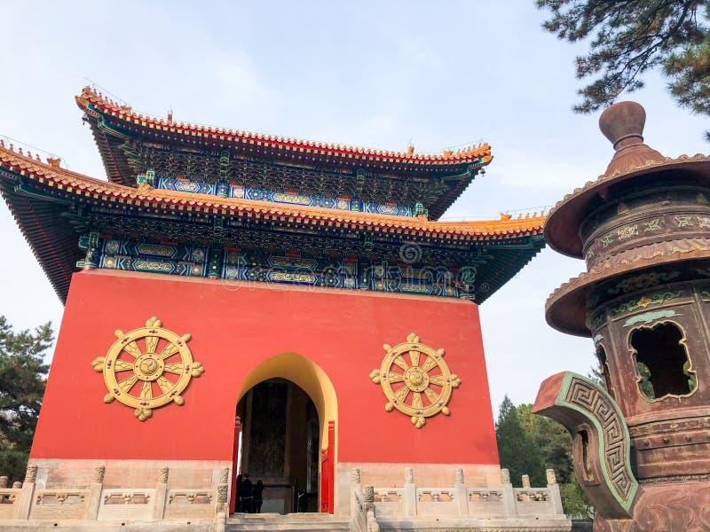 Uno de la puerta de entrada del templo budista de Putuo Zongcheng fotografía de archivo