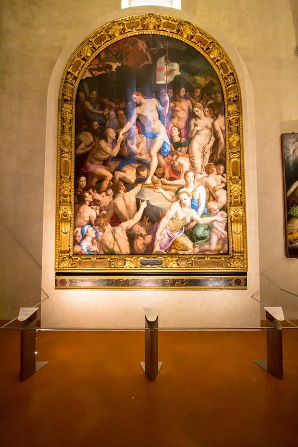 Uno de los altares en la basílica de Santa Croce, Florencia foto de archivo