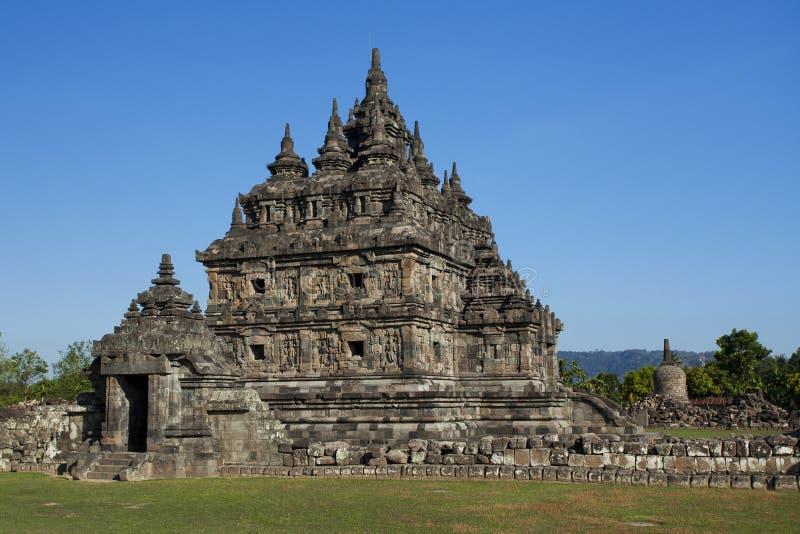 Uno de los templos principales en Candi Plaosan fotografía de archivo